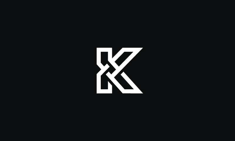 simple but attractive K letter logo by George Bokhua.